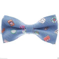 FLATSEVEN Herren Pre-Tied Casual Fliege Farbe Muster Krawatte Bow Tie (YB011)