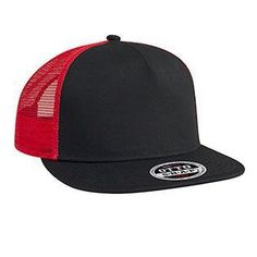 03a41435c6f83c Wholesale blank hats and custom logo hats Superior Cotton Twill Round Flat  Visor OTTO SNAP Five Panel Pro Style Mesh Back Trucker Snapback Hat