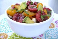 cherry salad - a new twist on caprese