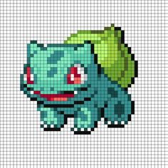 Bulbasaur Perler Bead Pattern | Bead Sprites | Characters Fuse Bead Patterns by writer, indulge