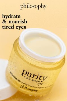 Beauty Care, Beauty Skin, Purity Made Simple, Moisturizer For Oily Skin, Eye Gel, Homemade Skin Care, Health And Beauty Tips, Skin Tips, Face Skin