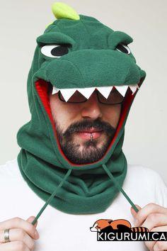 Dinosaur Kigurumi Neckwarmer Onesie Animal Costume Adult Pajamas