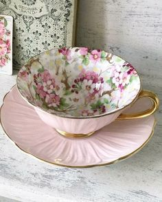 Cup And Saucer Set, Tea Cup Saucer, Cuppa Tea, Teapots And Cups, China Tea Cups, My Cup Of Tea, Tea Party, Pottery, Decoration