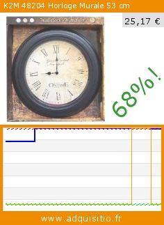 K2M 48204 Horloge Murale 53 cm (Cuisine). Réduction de 68%! Prix actuel 25,17 €, l'ancien prix était de 79,10 €. http://www.adquisitio.fr/k2m/48204-horloge-murale-53