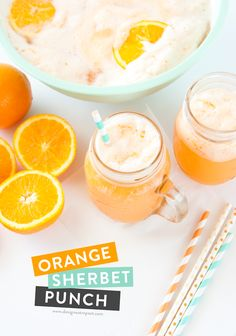 Whip up a batch of this Orange Sherbet Punch in less than 15 minutes ...