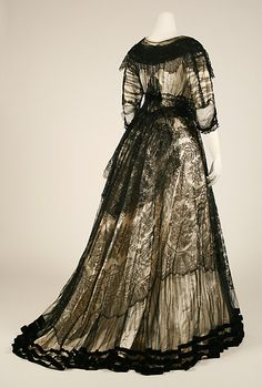 Dinner Dress ca. 1901 oh how awesome it would've been to live in the day of daily formalwear