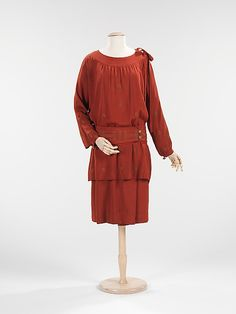 Dress, Evening  House of Lanvin (French, founded 1889)  Designer: Jeanne Lanvin (French, 1867–1946) Date: fall/winter 1926–27 Culture: French Medium: silk, metal