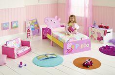 Dormitorio infantil Peppa Pig perfecto para toda fan de la cerdita #peppapig . #bainba #dormitoriosdisney #camasdisney