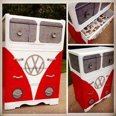 Look what my sorority sister made! -Carolyn VW dresser  #vwdresser  #meganlaraedesigns