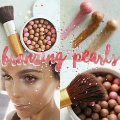 Think of a bronzer, blush, highlighter all in one… Five different colors create a really pretty glow.Plus the pearls contain antioxidants that are good for the skin. Great to use all over the face or on checks for highlighting. Beauty Box, Beauty Skin, Health And Beauty, Hair Beauty, Skin Pearl, Bronzing Pearls, Buisness, Handmade Decorations, Love People