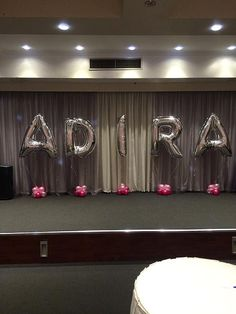 Name with #Letter Foil #Balloons http://www.balloonart.com.au/balloon-arrangements-for-all-occasions-in-sydney/letter-foil-balloons/