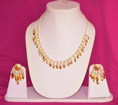 24 Ct. Gold Plated Traditional Punjabi chain set with Moti Beads J0212