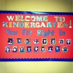 Our kindergarten bulletin board I made