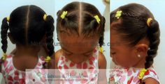 Easy Updos for Little Girls | Easy Creative Natural Hairstyles