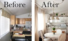 A Few of My Favorite Things: Living Room & Kitchen Before & After!!!