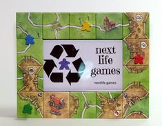 Carcassonne Board Game Picture Frame Unique and Carcassonne Board Game, Game Room Decor, Diy Games, Game Night, Game Design, Board Games, Picture Frames, Craft Projects, Geek Stuff