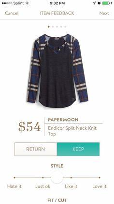 Papermoon Endicor Split Neck Knit Top stitchfix.com\/referral\/5939587