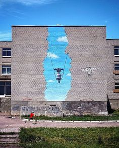 ": ""Popasna's swing"" by @seth_globepainter in Popasna, Ukraine"