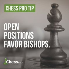 Give the bishops room to roam, and they will shine! Chess Guide, Chess Tricks, Chess Quotes, Chess Tactics, Chess Strategies, Chess Books, How To Play Chess, Card Games, Hollywood Quotes