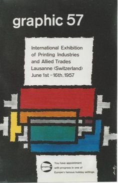 Original-vintage-poster-GRAPHIC-PRINTING-INDUSTRIES-EXPO-1957
