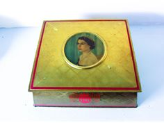 Vintage metal tin box canister Queen Elizabeth the Queen's Royal coronation Queen Elizabeth II, Royal tin, vintage. by on Etsy Young Queen Elizabeth, Princess Elizabeth, Tin Boxes, Metal Tins, Magpie, Vintage Metal, Cottage Chic, Canisters, Royalty