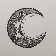 To The Moon & Back Henna Design