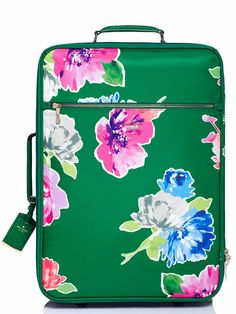 vibrant floral print carry-on
