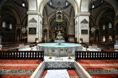 Fountain - Ulu Cami - Ulu Camii in Bursa, Turkey. Indian Interiors, Traditional Tile, Indian Architecture, Stay Humble, Islamic Art, 21st Century, Morocco, Fountain, Mosques