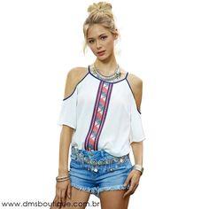 Blusa Feminina com Ombros de Fora - Blusas | DMS Boutique