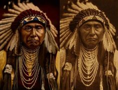 chief two moons | Colorized Old Photos of Native Americans photo