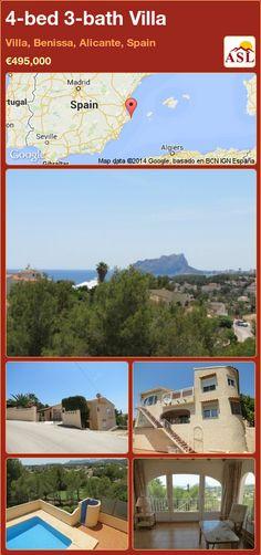 4-bed 3-bath Villa in Villa, Benissa, Alicante, Spain ►€495,000 #PropertyForSaleInSpain