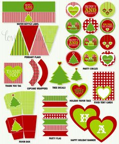Love these printables and the ideas for sugar cookies