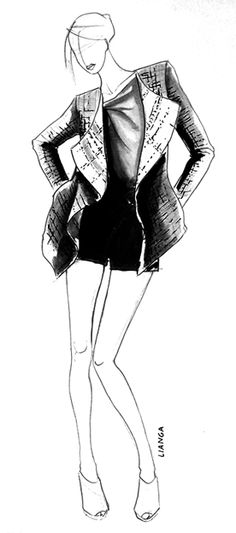 Chanel tweed outfit Illustration  for Lianga | Vera Couto #fashion #illustration