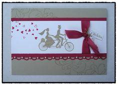 Hier scrapt und stempelt das papiertier: Hochzeitskarte — Wedding Wheels