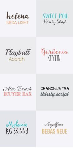 8 Font Pairings for Social Media and Blog Post Images. Plus, a FREE font inspiration kit with more retro, modern, script + handwritten fonts to try. Click through to see them all! Free Cursive Fonts, Handwritten Fonts, New Fonts, Font Free, Vintage Fonts, Vintage Typography, Typography Fonts, Graphics Vintage, Vector Graphics