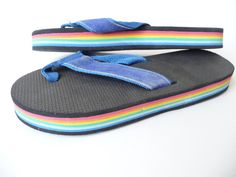 Rainbow flip flops I had a pair of these for over 10 years... till the strap broke. I loved them!