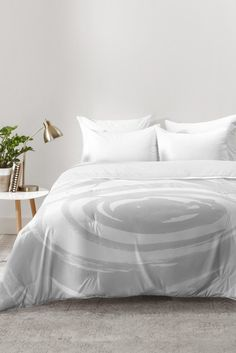 Amy Sia Swirl Pale Gray Comforter | DENY Designs Home Accessories