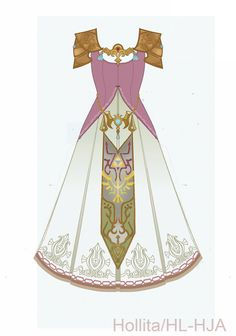 Zelda (Twilight Princess) Cosplay design draft by Hollitaima on DeviantArt