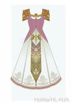 Zelda (Twilight Princess) Cosplay design draft by Hollitaima on DeviantArt