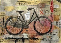 Mixed Media Collage Art | My Bicycle – Mixed Media Art Print | ArtsField
