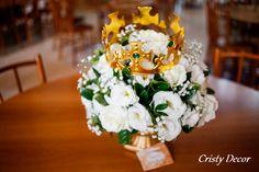 Flores coroadas para a festa do Rei