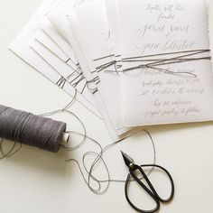 """::grey twine wrap:: #graceline #calligraphy #weddinginvitations"""