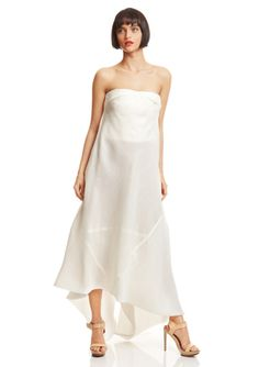 Rick Owens strapless solid silk organza tube dress, $400.00.