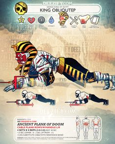 ab exercise: plank rows mummy