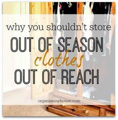 Why not storing clothes out of reach at any time of the year is the sensible thing to do - and how to avoid needing to