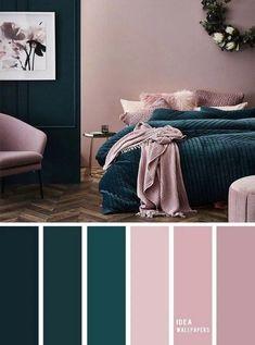 10 Best Color Schemes for Your Bedroom Deep ocean Teal Mauve , blush color palette, colo. 10 Best Color Schemes for Your Bedroom Deep ocean Teal Mauve , blush color palette, colour palette Best Color Schemes, Bedroom Color Schemes, Colour Schemes For Living Room, Decorating Color Schemes, Apartment Color Schemes, Diy Decorating, Colors For Bedrooms, Interior Design Color Schemes, Room Colour Ideas