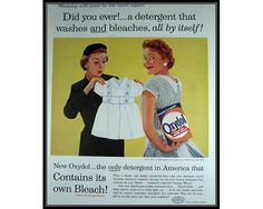 Oxydol Detergent Laundry Room Decor Wall Art by thevintageshop