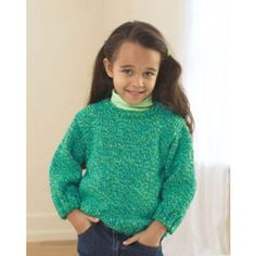 Mary Maxim - Free Child's Easy Pullover Knit Pattern - Free Patterns - Patterns & Books