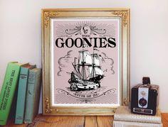 Vintage Inspired Goonies Print by PaperAndPoesy on Etsy