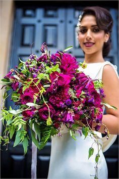 Pretty purple wedding bouquet
